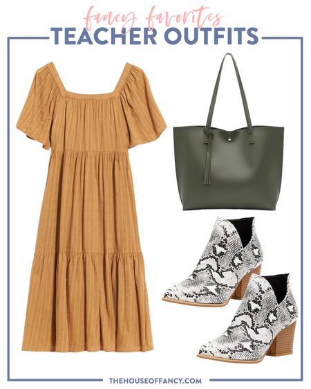 Love a good dress and booties for fall!   #LTKstyletip #LTKSeasonal #LTKshoecrush