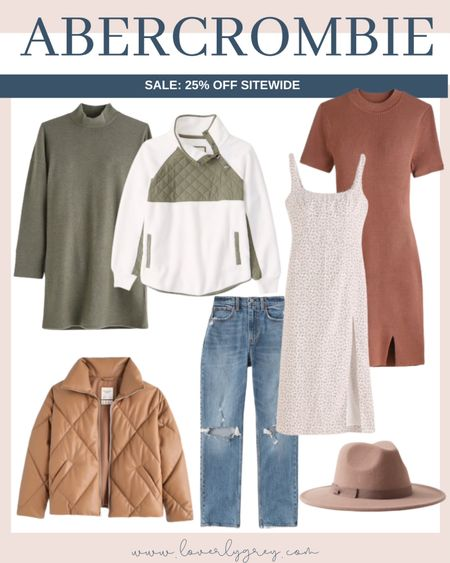 Abercrombie has so many good fall staples like these sweater dresses, puffer coat, mom jeans and fall hat!   #LTKstyletip #LTKunder100 #LTKSale