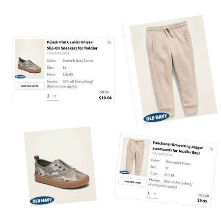 $10 Toddler Boy Joggers $10 Toddler Boy slip on shoes Today Only at Old Navy!   #LTKbaby #LTKFall #LTKkids