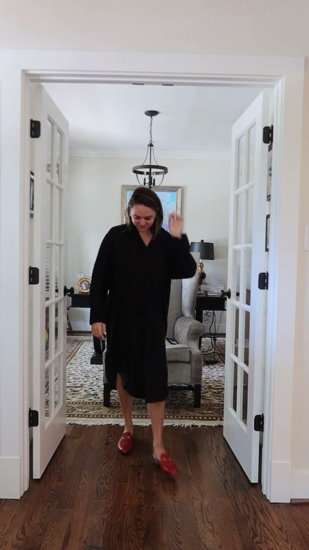 Black shirt dress from HM. HM dress. Fall dress. Fall fashion.   #LTKsalealert #LTKstyletip #LTKunder50