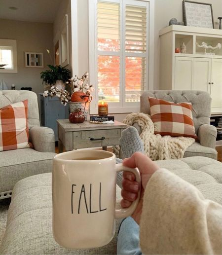 Sipping coffee and window watch 🍁 Those fall leaves though!   #LTKstyletip #LTKhome #LTKSeasonal