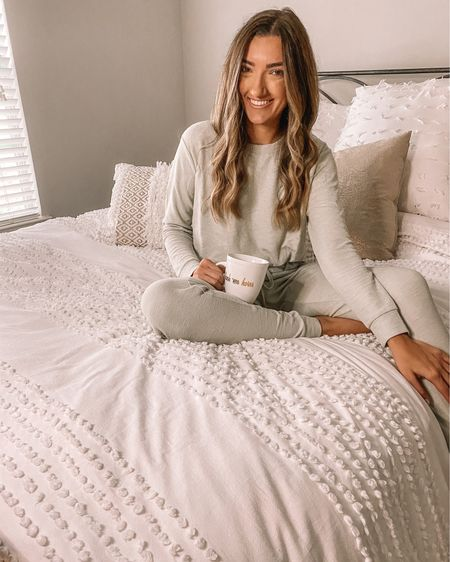 If you're into a more muted Christmas pajama, these are for you! The perfect muted light green and in tall sizes! http://liketk.it/30SRv #liketkit @liketoknow.it #StayHomeWithLTK #LTKunder50 tall sizes tall women tall pajamas Christmas pjs