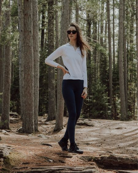 I love spending time outside. I love good hiking gear even more. Hiking shoes, high waisted leggings, a quarter zip sweatshirt and sunglasses are my go-tos.    #LTKtravel #LTKstyletip #LTKSeasonal