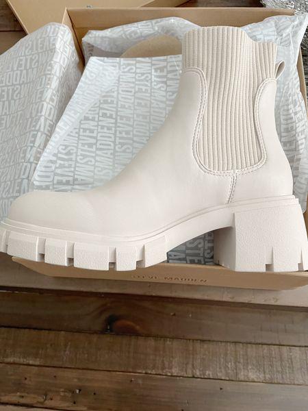 Steve Madden Hayle Platform Chelsea Boot in Bone - loveee 😍 TTS #NSale #Nordy #NordstromSale    #LTKshoecrush #LTKstyletip #LTKsalealert