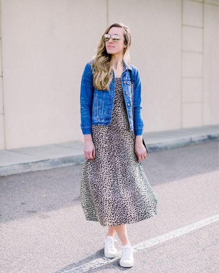 Sunday Style // Love pairing Veja Sneakers with a midi dress for a casual look. My jean jacket is under $100 too! #liketkit @liketoknow.it http://liketk.it/2KpxD #LTKunder100 #LTKspring #LTKshoecrush