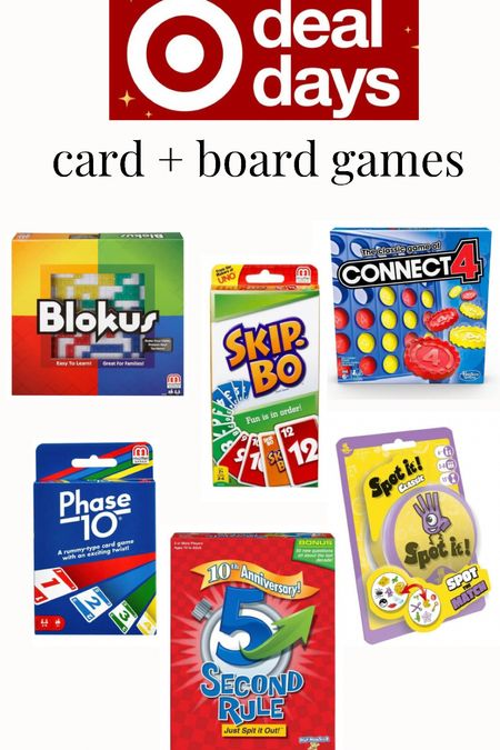 Card and board games for all different age ranges. By them on sale for holiday gifts  #LTKfamily #LTKsalealert #LTKGiftGuide