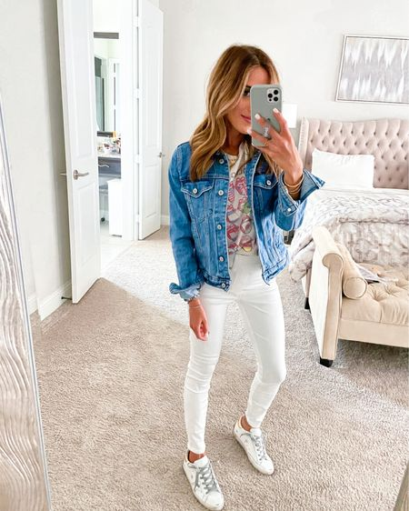 White jeans size Xs petite use code doubledosexspanx, size Xs jacket http://liketk.it/3frwo #liketkit @liketoknow.it #LTKunder50 #LTKunder100 #LTKsalealert