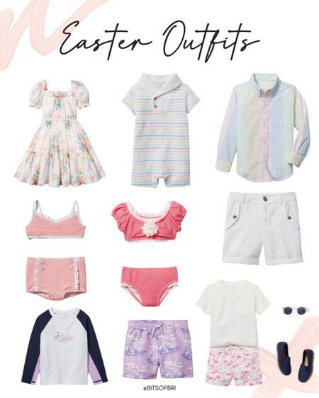 Easter outfits for the kids!   Dress. Baby romper. Collared shirt. Shorts. Swimsuit. Swim trunks. Kids swimsuits. Spring outfits. Outfits for kids. Outfit for baby. http://liketk.it/39xyV #liketkit @liketoknow.it #LTKSeasonal #LTKfamily #LTKkids