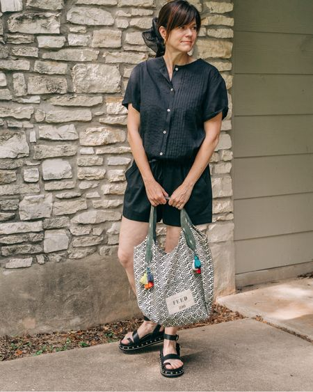 Are you a fan of the romper? I have a close friend that calls them adult onesies, but I think rompers are a hero piece during the hot summer months. They are great for casual outings to date nights.  . I am wearing an Isabel Marant romper from a few years ago, but I am eyeing a couple to expand my options. While I wasn't able to find any that were part of the #nsale @nordstrom has the best rompers. Most of the ones I linked to are around $50 with only one that is $100. That one is a safari detailed cutie by Madewell in a sustainable fabric so #worthit  . .  Shop my daily looks by following me on the LIKEtoKNOW.it shopping app http://liketk.it/3jP9q #liketkit @liketoknow.it @liketoknow.it.home #LTKunder100 #LTKunder50 #LTKstyletip #LTKsummer #LTKnsale #nordstom #summerstyle #over40style #fashionoverforty