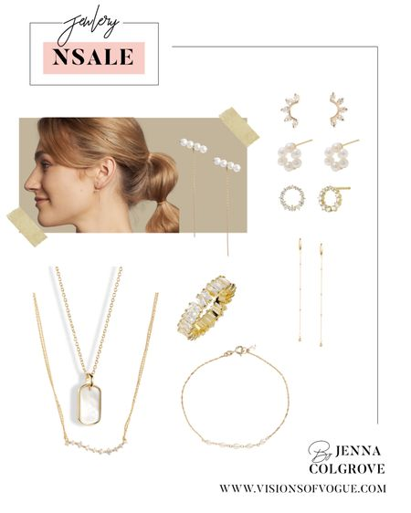 My favorite gold jewelry deals from the Nordstrom Anniversary Sale (NSALE)! There are some amazing everyday stud earrings and hoops! Favorite brands are Bon Levy and Dana Rebecca!   #LTKunder50 #LTKstyletip #LTKsalealert