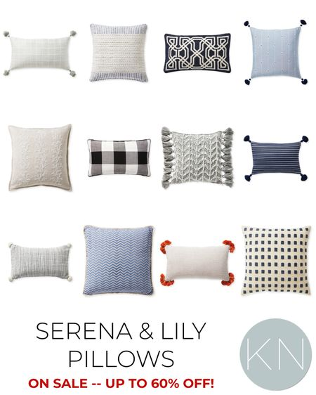 Don't miss this major sale on some great Serena & Lily pillows — up to 60% off! Home decor living room decor coastal decor neutral pillow bedroom decor bedding fall decor outdoor decor clearance   #LTKsalealert #LTKhome #LTKunder100