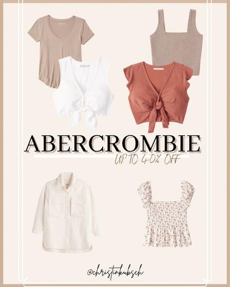 Abercrombie sale - up to 40% off  Vneck Button up Tank Crop top  #LTKsalealert #LTKunder100 #LTKunder50