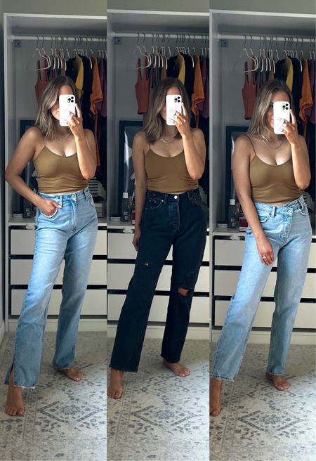 all denim linked is 25% off!! I wear true 26s in dad jeans, 27s in anything ultra high rise     #LTKSale #LTKunder100