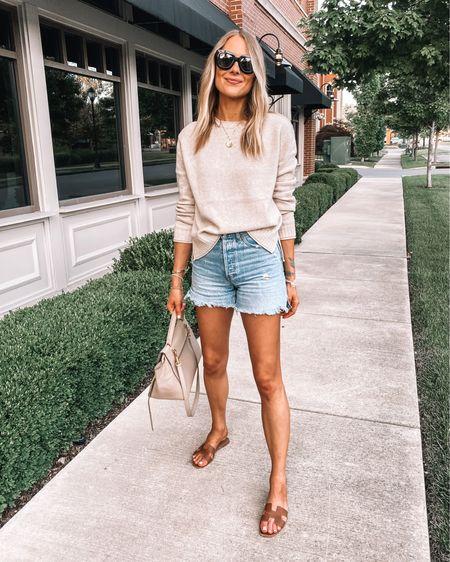 Love this lightweight jenni kayne sweater (xs /runs big) for summer with denim shorts (size up) and sandals! Use code JACKSON15 for a discount at Jenni Kayne. http://liketk.it/3idJt #liketkit @liketoknow.it #LTKstyletip #LTKunder100 #LTKshoecrush
