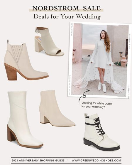 Our fave white boots on sale from the Nordstrom Sale - perfect for an elopement, chic wedding or any day!     #LTKwedding #LTKsalealert #LTKshoecrush