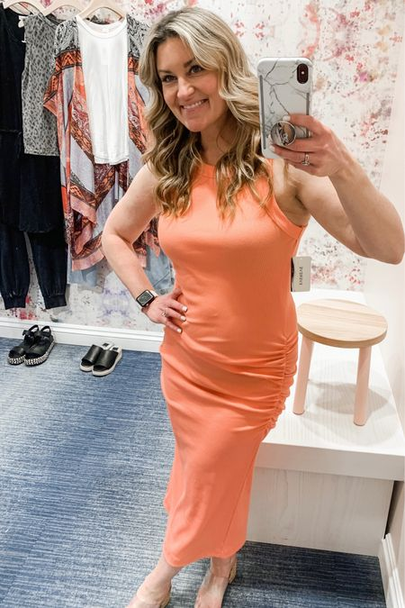 Dress it up or hit the pool. This coral dress is the perfect spring color and it is flattering on every body type. This with a jacket is perfect for date night, or take it to the pool as the cutest coverup ever. The cork sandals are a perfect match. http://liketk.it/3btrp #liketkit @liketoknow.it Follow me on the LIKEtoKNOW.it shopping app to get the product details for this look and others 🌸
