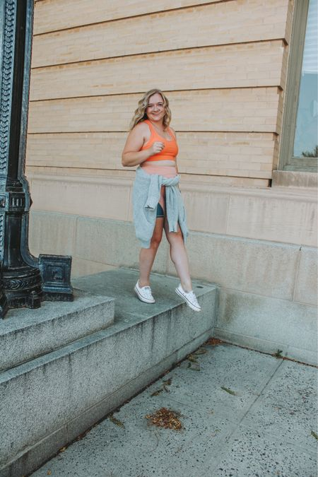 Wearing a medium in all pieces! Athleisure outfits, fabletics outfits, workout clothes, sports bra, biker shorts, athleisure sets.     #LTKfit #LTKshoecrush #LTKcurves