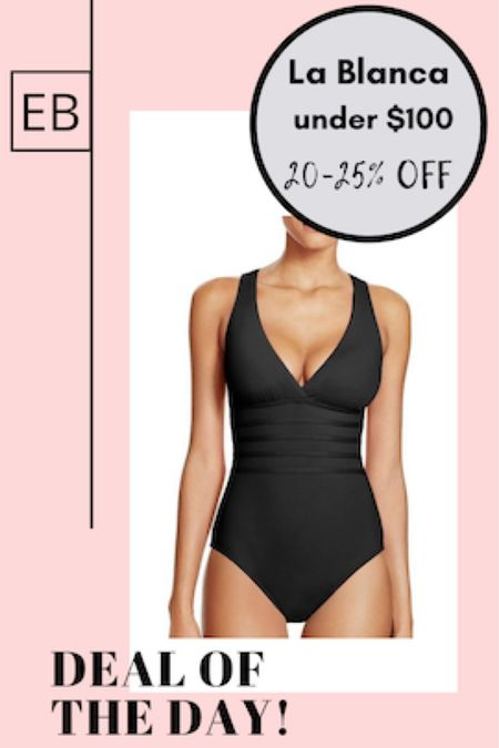 Black one piece La Blanca swimsuit on sale.  Comes in a lot of colors.  Make sure to size up in swim. http://liketk.it/3eVVC #liketkit @liketoknow.it #LTKunder100 #LTKstyletip #LTKswim Screenshot this pic to get shoppable product details with the LIKEtoKNOW.it shopping app