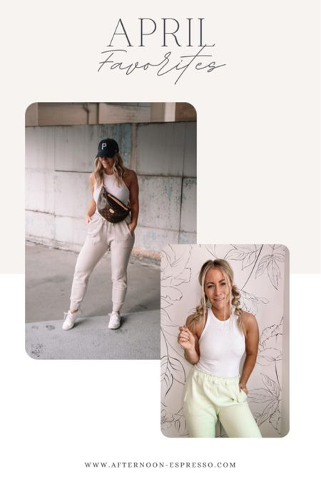 April Favorites - loungewear is here to stay! You can find me in joggers and a tank most days! http://liketk.it/3fg6U #liketkit #LTKstyletip #LTKitbag @liketoknow.it #LTKDay