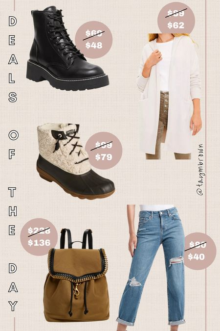 Daily deals, deals of the day, gifts for her, fashion backpack, winter boots, combat boots, hooded cardigan  #LTKshoecrush #LTKsalealert #LTKGiftGuide