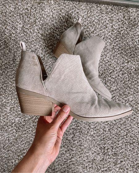 Beige low heel target booties for $35   #LTKstyletip #LTKshoecrush #LTKunder50