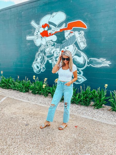 Target Wild Fable crop top comes in multiple colors and $10! Jeans are also Target and sooo dang good! Wearing a 25!   #LTKsalealert #LTKstyletip #LTKunder50