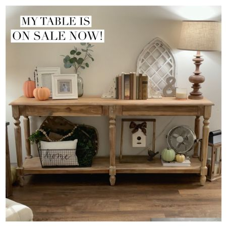 My living room table is on sale now!  One of my faves- perfect in the living room, a hallway, foyer, etc!! I love the color and it's the perfect size! (It has two hidden drawers, You can add your own hardware or leave as is)!     Furniture sale Home decor Home Sale Farmhouse style Fall Home decor   #LTKsalealert #LTKhome #LTKSeasonal