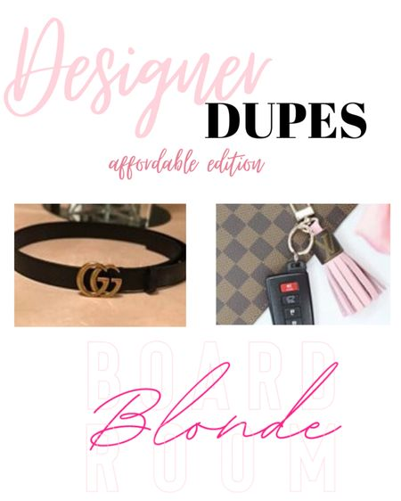 Designer but make it affordable! Gucci belt, GG belt, affordable designer belt, Louis Vuitton key fob affordable key fob, designer key fob http://liketk.it/36vzc #liketkit @liketoknow.it #LTKunder50 #LTKstyletip #LTKsalealert