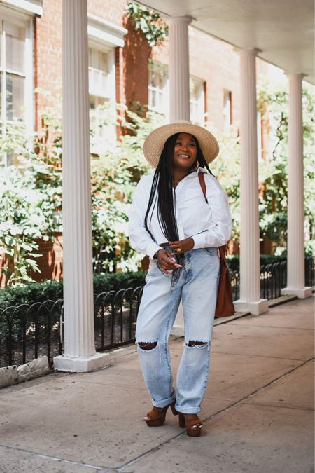 You can never go wrong with a crisp white button down and denim.   #LTKunder50 #LTKstyletip #LTKunder100