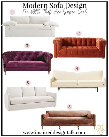 Best sofa styles for under $3000.  Sofa, living room decor, home decor, living room inspiration, couch, sofas, couches, bedroom decor, living room furniture.  You can instantly shop my looks by following me on the LIKEtoKNOW.it shopping app  #LTKfamily #LTKhome #LTKstyletip