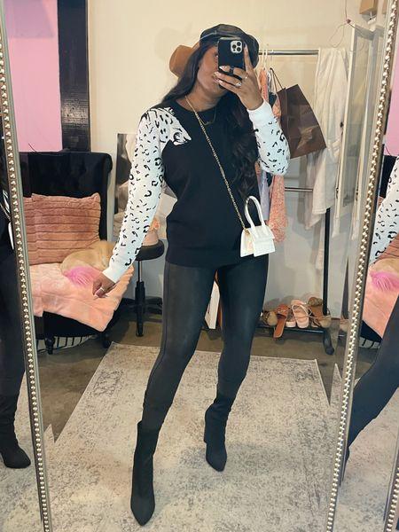 Fall fashion, amazon fashion finds, Fall outfit ideas, black leggings, booties  #LTKstyletip #LTKunder100 #LTKSeasonal