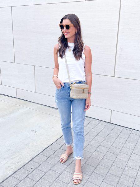 Monday 🤍 #ootd #fashion #frame #nordstrom #dior #lespecs #jeans #momjeans #target #targetstyle #shopbop #lespecs #dior   #LTKunder50 #LTKshoecrush #LTKstyletip