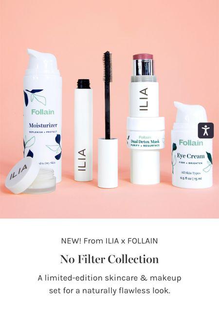 New skincare kit from Follain x Ilia! The best clean lip balm mask, mascara, skin tint, moisturizer, detox mask, and eye cream! Such a great value!   #LTKSeasonal #LTKbeauty #LTKsalealert