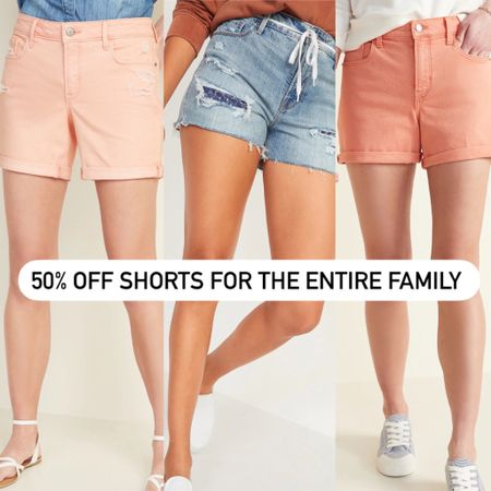 50% off shorts for the entire family from Old Navy!! http://liketk.it/3hC2Z @liketoknow.it #liketkit #LTKkids #LTKmens #LTKfamily