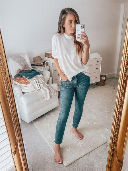 these jeans run true to size; I'm 5'3 for reference ___ designer denim, denim, skinny jeans, nsale  #LTKsalealert #LTKunder100