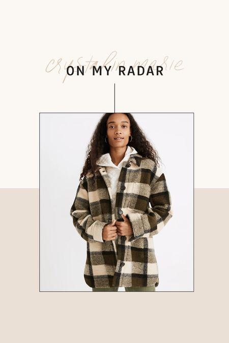 Madewell plaid shirt jacket- on sale!       #LTKsalealert