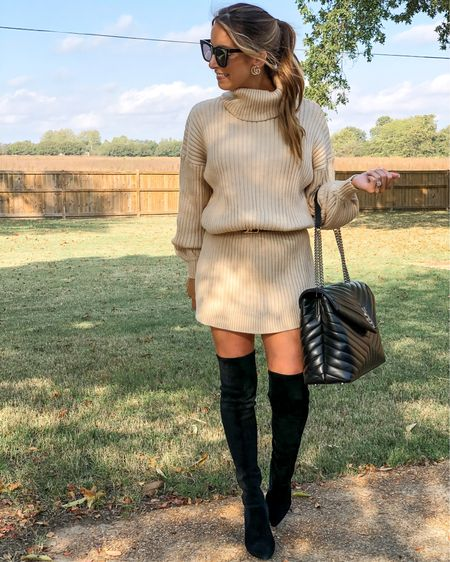 Ob-SESSED with this simple #OOTD 😍 this sweater dress can be made to look longer or shorter (belted) and is super comfy! Comes in other colors as well! Also these #otkboots are phenomenal and so easy to walk in- DEF recommend! Linking the deets in LTK   #sweaterdress #sweaterweather #otkboots #goodnightmacaroon #styleblogger #ysl #sweater #etsy #amazon #amazonstyle #amazonfashion #founditonamazon #saintlaurent #shoecrush #bagcrush #bloggerstyle #mississippiblogger #LTKunder50 #LTKshoecrush #LTKitbag @liketoknow.it #liketkit http://liketk.it/2ZAZi