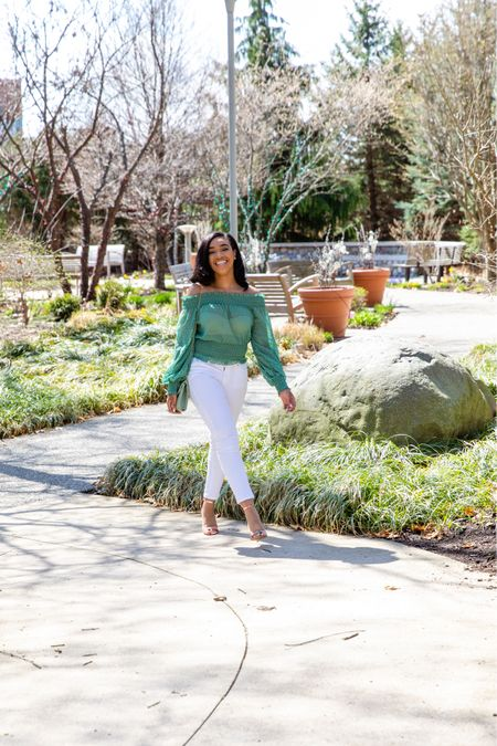 Sharing some colorful off-the-shoulder tops that are perfect for Summer 💚 ☀️   #LTKunder50 #LTKSeasonal #LTKDay