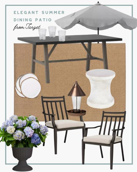 It's not summer if you're not dining outdoors. I love the way this table setup came together and all the pieces are on sale from target! If you're looking for an outdoor dining patio set, look no further! This one is incredibly chic and so well made. #patiofurniture #outdoordecor #target #targetfinds #patiodecor   #LTKhome #LTKSeasonal #LTKsalealert
