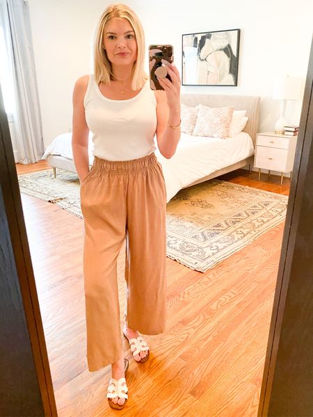 These pull-on pants are 👌🏼 for spring/summer. Come in several colors. {size down - I wish I had}   #LTKstyletip #LTKunder50 #LTKSeasonal