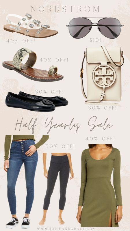 Nordstrom half yearly sale! //Tory Burch//Steve Madden //sandals //sunglasses //Zella leggings http://liketk.it/3gQxG @liketoknow.it #liketkit