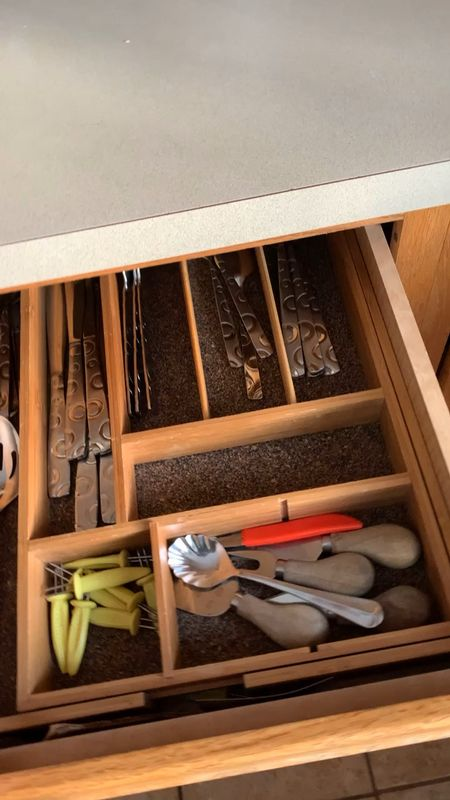 Being able to customize my kitchen drawers is magical.  I love that the bamboo is durable and eco-friendly.  This is an affiliate link at no cost cost to you I may earn a commission if you make a purchase.  If you chose to use my link I appreciate you supporting me and my blog.  #LTKhome