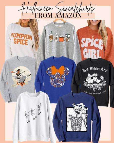 Halloween sweatshirts, Disney Halloween, skeleton sweatshirt, mom life outfit, pumpkin spice sweatshirt, spice girl sweatshirt, cute Halloween outfits, Halloween costumes  #LTKHoliday #LTKunder50 #LTKsalealert