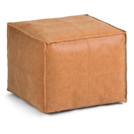 Faux leather pouf   #LTKhome