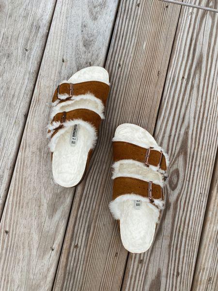 Birkenstock Arizona sandals with shearling lining - size down slightly (I'm normally a 40 and take a 39 in Birkenstock's)   #LTKshoecrush #LTKSeasonal #LTKstyletip
