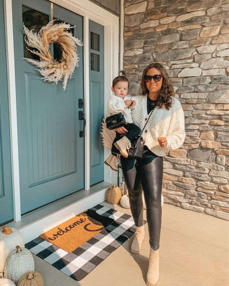 Pumpkin season ready with my lil pumpkin 💕Couldn't resist these matching balloon sleeve cardigans. Linking our matching outfits and porch decor on the @shop.LTK app or shop through the link in my bio! #targetstyle #liketkit #LTKfamily #twinning #mommyandmefashion #toddlerfashion #fallstyle #fallfashion #spanx #matchymatchy #mamaandme #fallporch #falldecor #pumpkinseason  #frontporchdecor #frontporch #boots #mommyandme #matchingfamily #modernfarmhouse #clevelandblogger #fashionblogger #blackcat #momfashion #toddlergirlfashion #doormat #targetaddict #matchingoutfits #realmomstyle   #LTKkids #LTKhome
