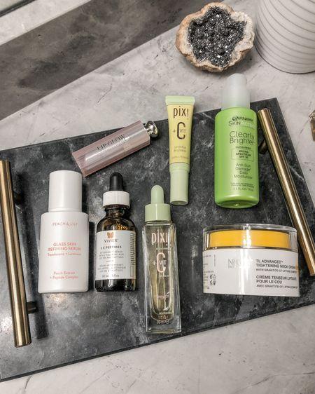 Skincare essentials in my morning skincare routine. Vitamin C, peptides, hyaluronic acid, niacinamide- gang's all here. http://liketk.it/33Pki #liketkit @liketoknow.it #LTKhome #ltkbeauty #beautyfavorites