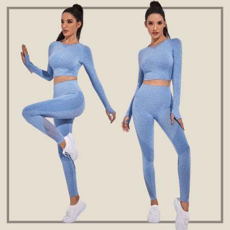 Seamless super elastic fishnet activewear set  #LTKfit #LTKunder50 #LTKunder100