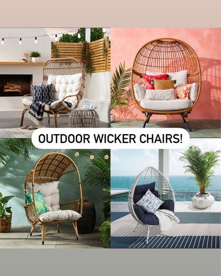 Outdoor wicker egg chairs http://liketk.it/38U7F @liketoknow.it #liketkit #LTKhome #StayHomeWithLTK #LTKSeasonal @liketoknow.it.home