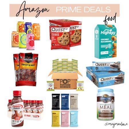 Amazon prime day deals on groceries including Poppi drinks, Quest nutrition, pure protein and skinny pop!  #LTKunder50 #LTKsalealert #LTKfamily